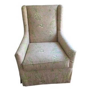 Century Furniture Lawson Slipcovered Host Chair (Club Chair Wing Chair) For Sale