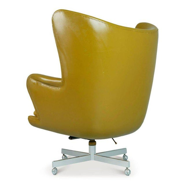 1960s Dramatic Executive Wingback Chair and Ottoman by George Kasparian, Circa 1960 For Sale - Image 5 of 11