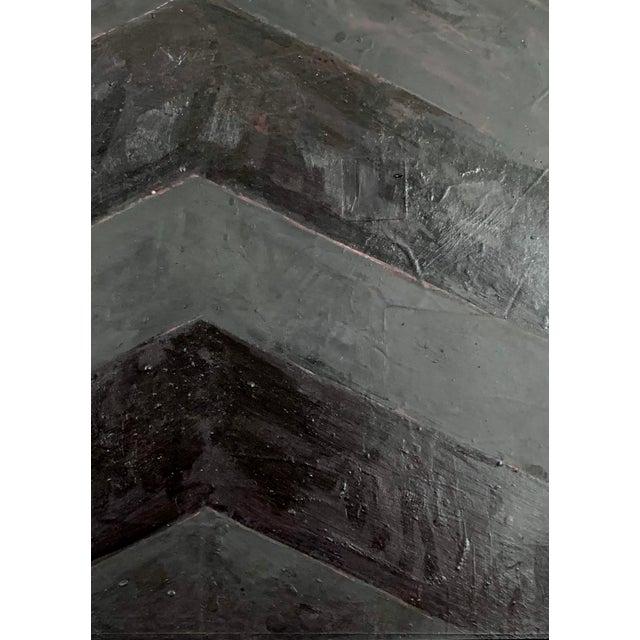 Metal Minimal Black Geometric Painting For Sale - Image 7 of 10
