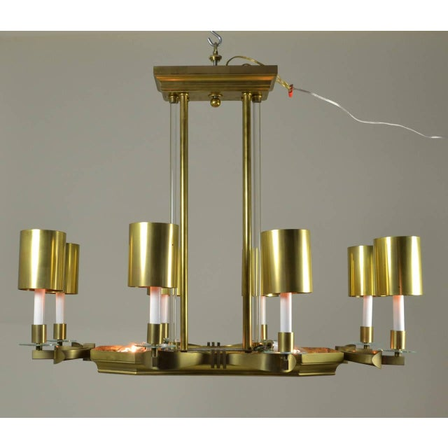 Large Art Deco Style Modernist Chandelier For Sale - Image 11 of 11