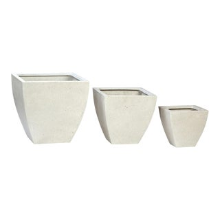 Modern Square Outdoor Planter Set of 3
