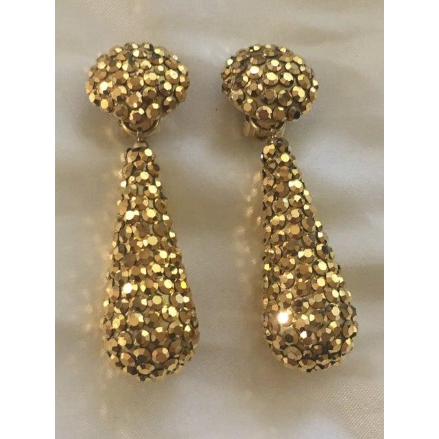 Richard Kerr Gold Crystal Richard Kerr Drop Earrings For Sale - Image 4 of 4