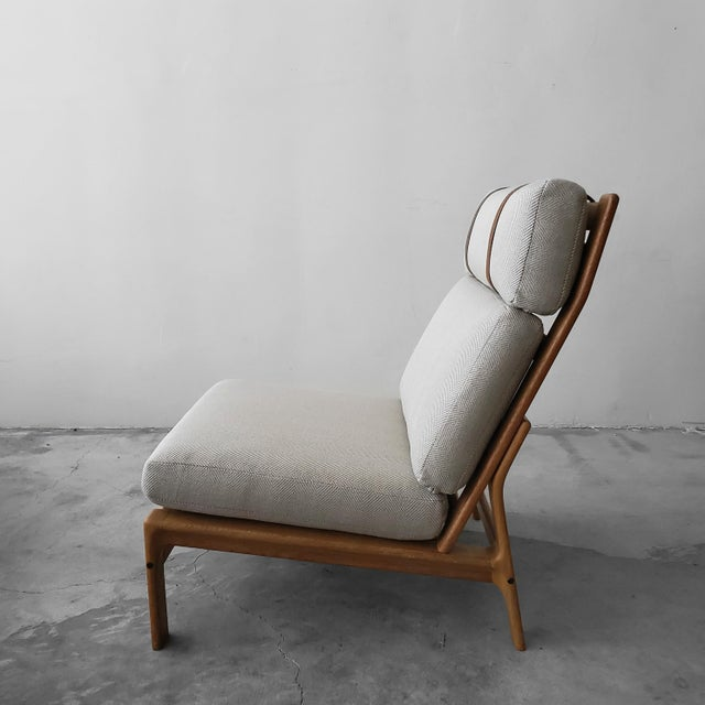 Mid Century Danish Oak Lounge Chair by Komfort Design For Sale In Las Vegas - Image 6 of 9