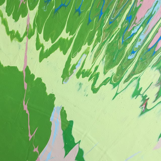 Abstract Pink/Green/Blue Color Field II For Sale In San Francisco - Image 6 of 8