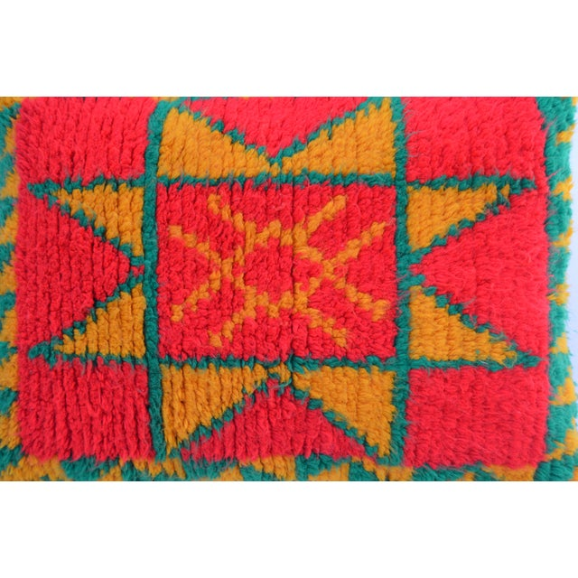 1970s Moroccan Berber Star Pillow For Sale - Image 5 of 8