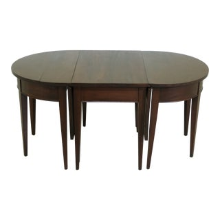 Miniature 3 Part Banquet Table Mahogany Coffee Table Set For Sale
