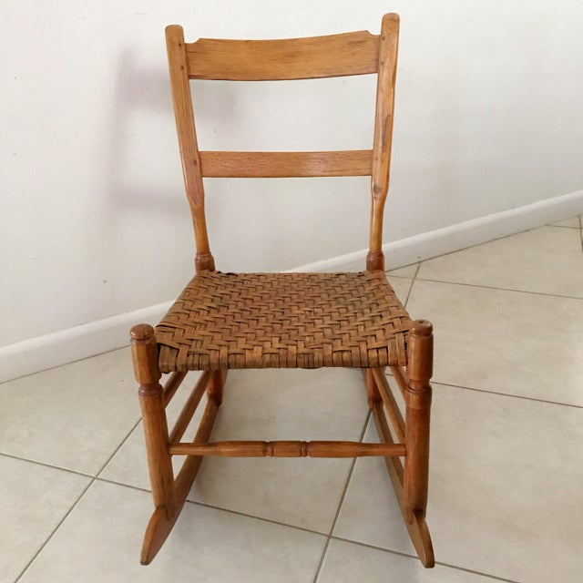 Groovy Antique New England Armless Rocker Sewing Rocking Chair Forskolin Free Trial Chair Design Images Forskolin Free Trialorg