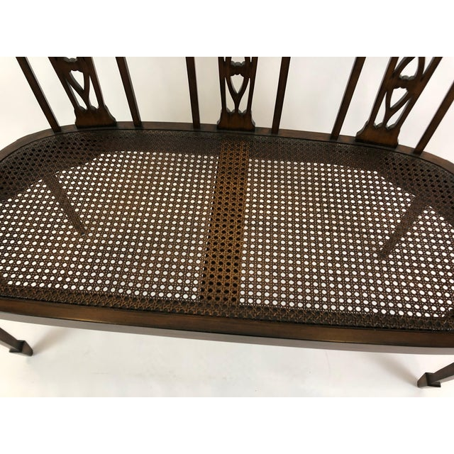 Italian Curved Fruitwood Loveseat Settee For Sale - Image 9 of 11