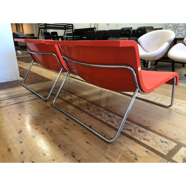 2010s Kartell Piero Lissoni Orange Form Lounge Chairs - a Pair For Sale - Image 5 of 10