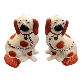 Antique Staffordshire Dog Figurines - a Pair For Sale