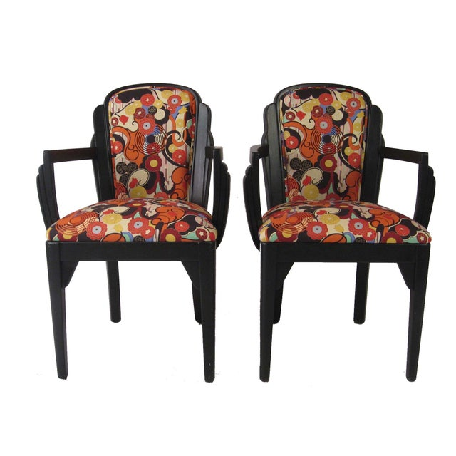 Art Deco Arm Chairs - A Pair - Image 1 of 6