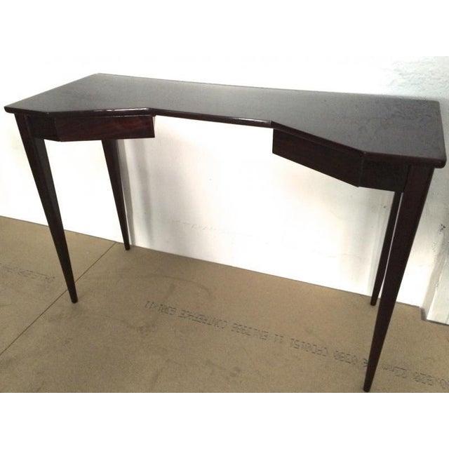 Maison Jansen Maison Jansen Refined Black Lacquered 2 Doors Lady Desk For Sale - Image 4 of 4