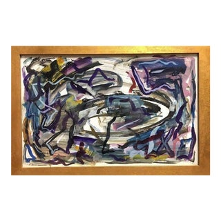 1959 George Paul Bello Mid-Century Modern Abstract Oil Painting