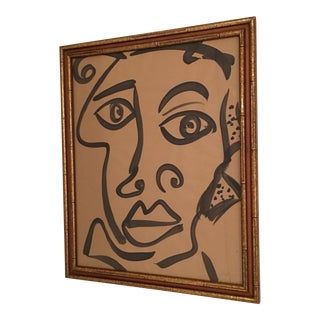 Peter Keil Abstract African Portrait Face Painting For Sale