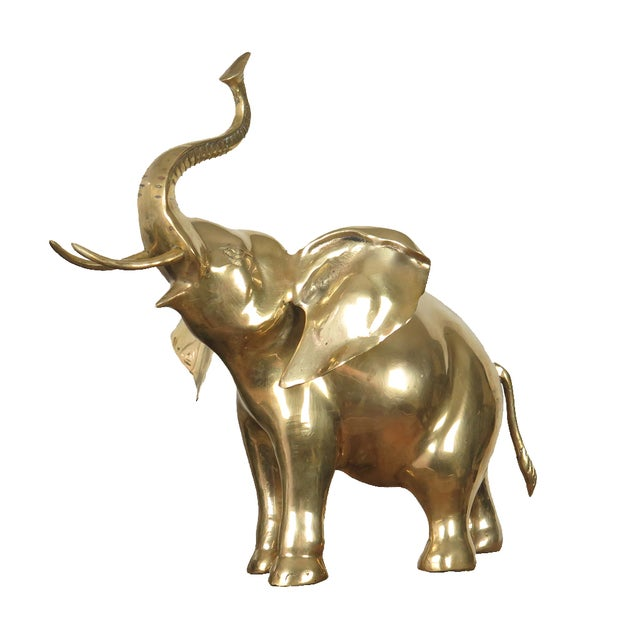 Brass Elephant Figurine - Image 1 of 10