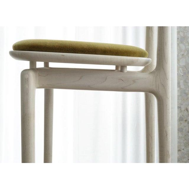 Bunn Studio Bunn Studio Pillar Dining Chair, Upholstered For Sale - Image 4 of 6