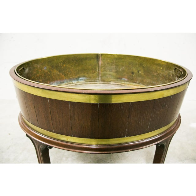 Georgian English George III Style Brass Bound Wine Cooler For Sale - Image 3 of 12