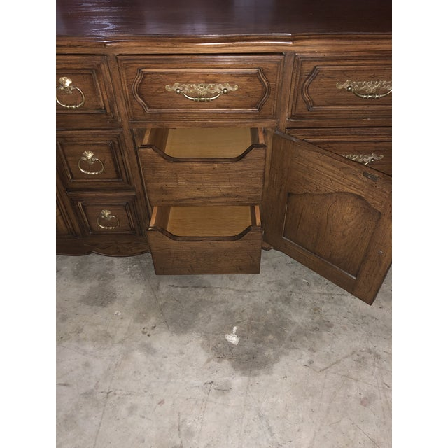 Davis Cabinet Company Davis Cabinet Company Triple French Provincial Umberwood Dresser For Sale - Image 4 of 13