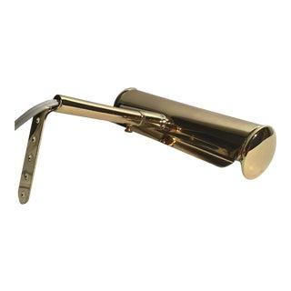 Vintage Polished Articulated Brass Art Light For Sale