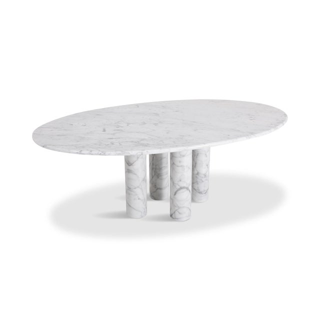 Mario Bellini Il Colonnata Oval Dining Table in Carrara Marble for Cassina For Sale - Image 12 of 12