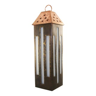 Handcrafted Copper Lantern For Sale