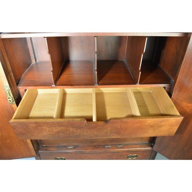 Wood Michael Taylor for Baker Middle East Collection Walnut Highboy Dresser For Sale - Image 7 of 12