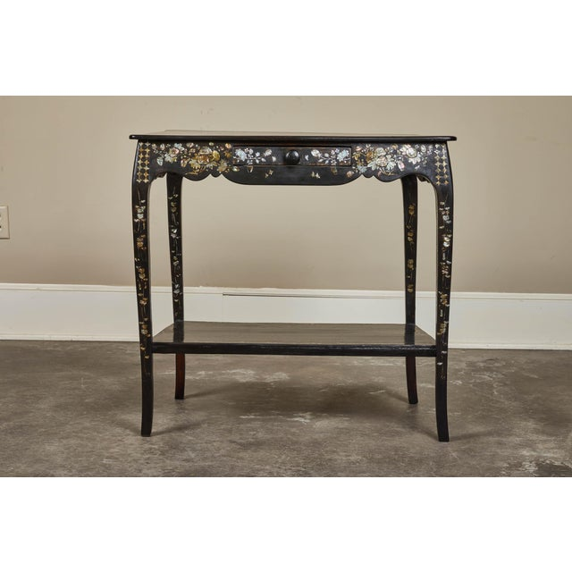 19th Century French Colonial Mother of Pearl Table For Sale - Image 10 of 10