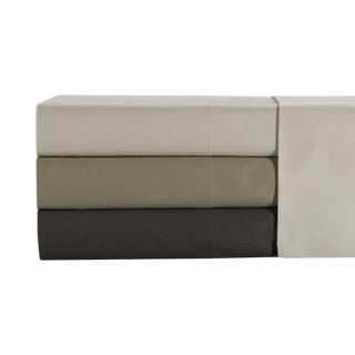 Florence Solid Fitted Sheet Queen - Limestone For Sale