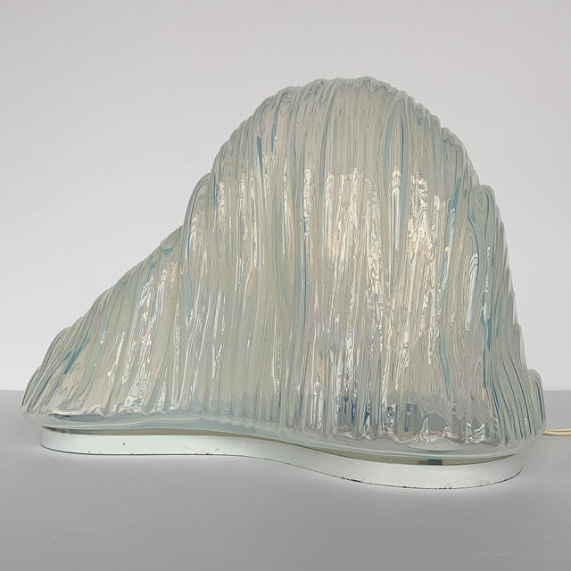 "1960s Carlo Nason ""Iceberg"" Mazzega Sculptural Glass Table Lamp For Sale - Image 5 of 13"