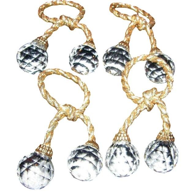 Regency Crystal Prism Napkin Rings - Set of 4 For Sale