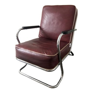 Vintage Tubular Chrome Lounge Chair by Lloyd Manufacturing Co.