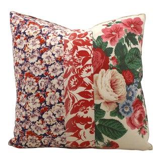 Vintage Floral Patchwork Pillow