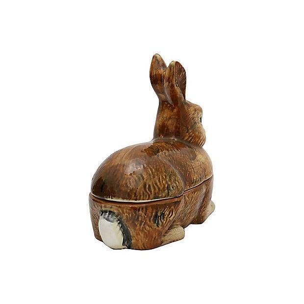 Majolica French Majolica Rabbit Pâté Tureen For Sale - Image 4 of 6