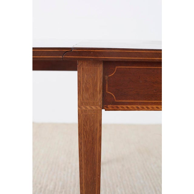 American Hepplewhite Style Mahogany Banquet Dining Table For Sale - Image 9 of 13