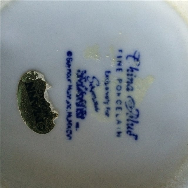 Seymour Mann China Blue Porcelain Vase For Sale In Los Angeles - Image 6 of 6