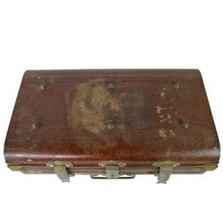 Antique British Wilkes & Son Locked Metal Trunk for Export, Circa 1800s Preview