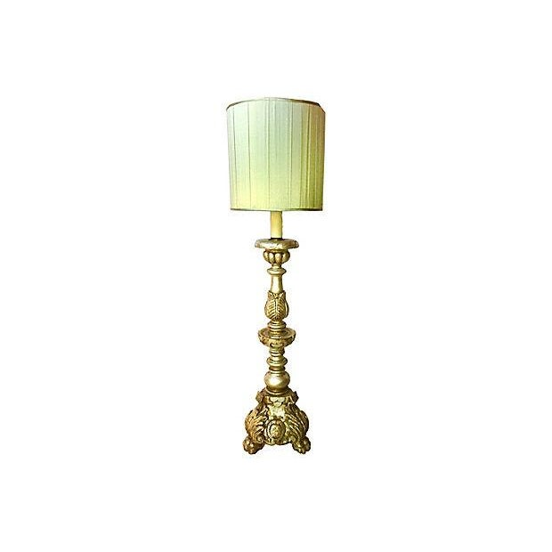 1940s Italian Silver-Gilt Table Lamp For Sale - Image 10 of 11