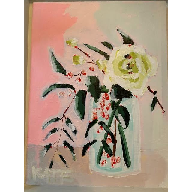 From the floral still-life series by Charleston artist Kate Waddell. Known for her use of vibrant and unexpected color...