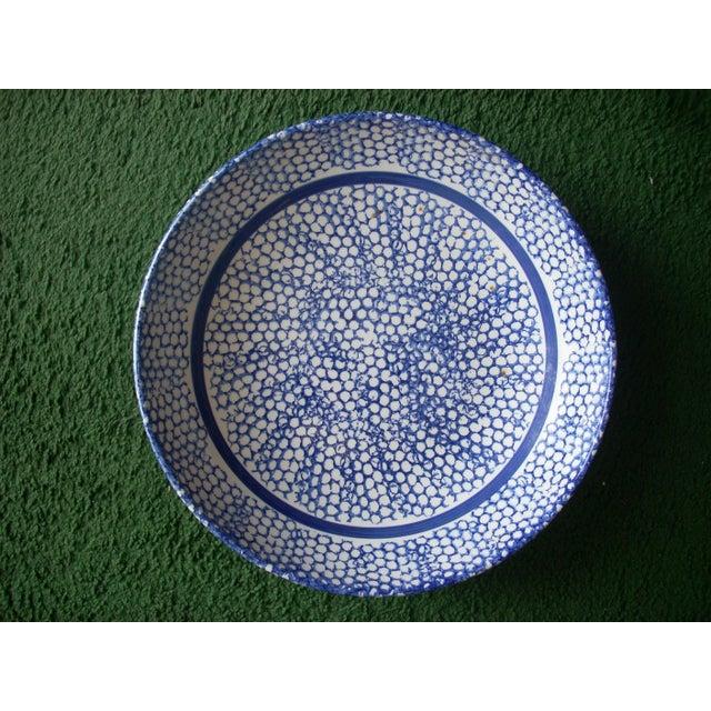 Italian Italian Blue Sponge Bowl For Sale - Image 3 of 3
