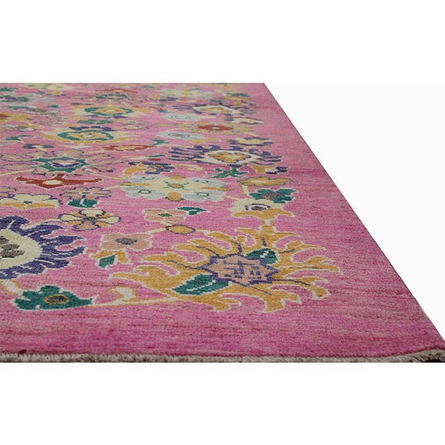 """1990s Traditional Handwoven Turkish Oushak Rug - 8'2""""x10'7"""" For Sale - Image 5 of 12"""