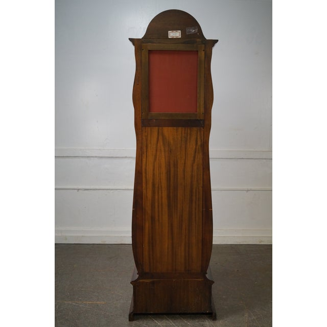 Herschede 9 Tube Mahogany Bombe Tall Case Grandfather Clock For Sale - Image 4 of 10