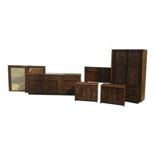 Mid Century Lane Pueblo Paul Evans Style Brutalist Bedroom Set - 6 Pieces For Sale