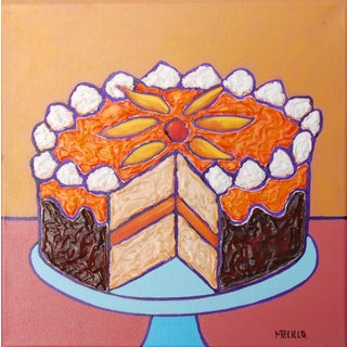 Small Painting Sunflower Cake Pop Art by Tom Melillo For Sale