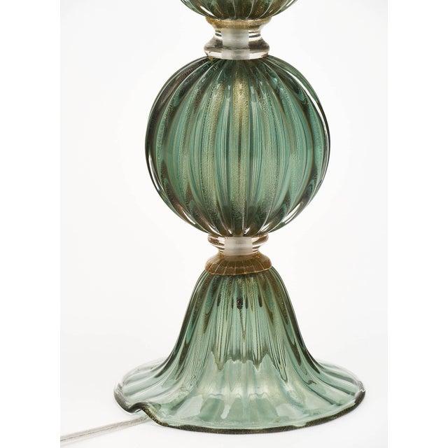 Green Avventurina Murano Glass Lamps For Sale - Image 9 of 10