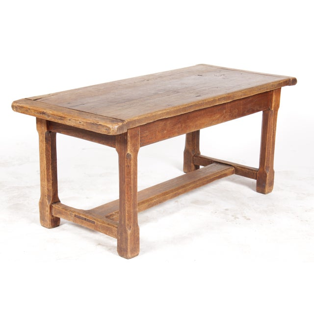Antique Monestary-Style Oak Coffee Table - Image 2 of 9