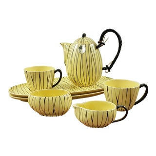 1950s Sebastiano Buscetta 'Mehikana' Tea Set for Gräflich Ortenburg - Set of 7 For Sale