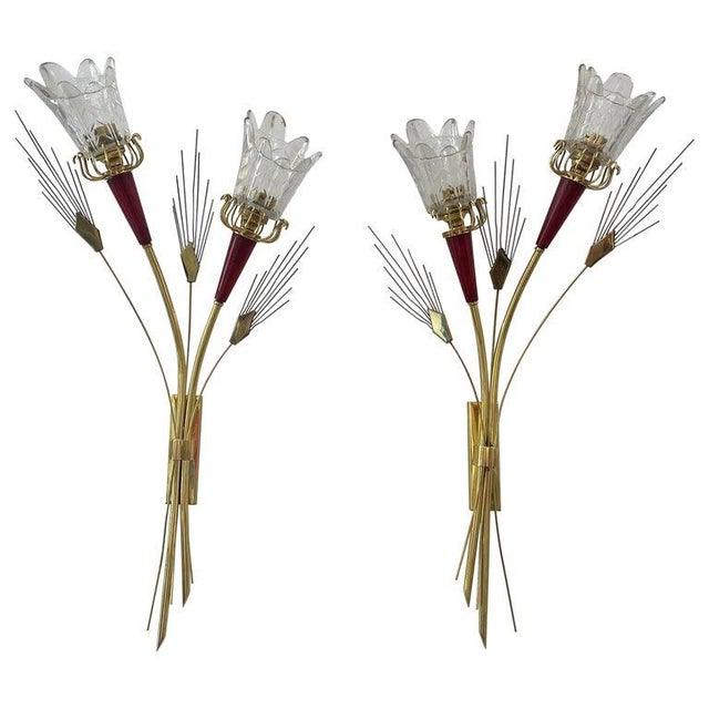 Mid-Century Modern Maison Arlus Sconces - a Pair For Sale - Image 13 of 13