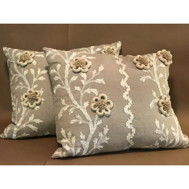 """Swedish Brunschwig & Fils Pillows in """"Sea Vine"""" Wheat - a Pair For Sale - Image 9 of 10"""
