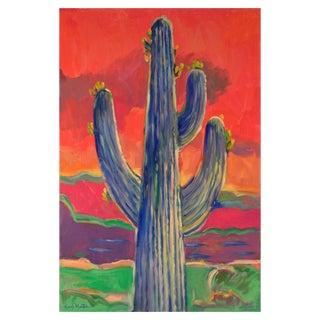 Saguaro Sunset Original Painting For Sale