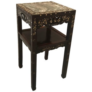19th Century Chinese Rosewood and Mother-Of-Pearl Stand For Sale